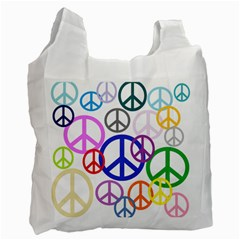 Peace Sign Collage Png Recycle Bag (Two Sides)