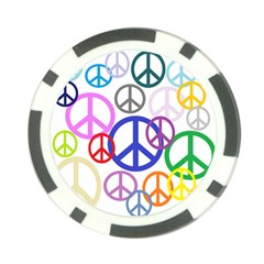 Peace Sign Collage Png Poker Chip (10 Pack)
