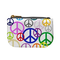 Peace Sign Collage Png Coin Change Purse