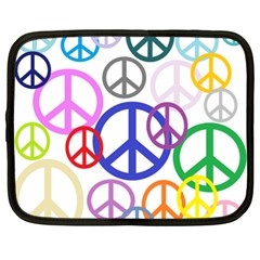 Peace Sign Collage Png Netbook Sleeve (XL)
