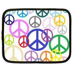 Peace Sign Collage Png Netbook Sleeve (xxl)
