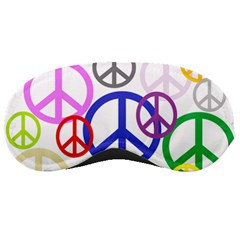 Peace Sign Collage Png Sleeping Mask