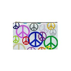 Peace Sign Collage Png Cosmetic Bag (small)