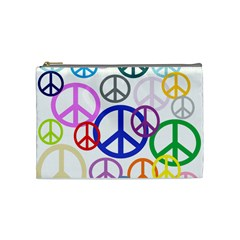 Peace Sign Collage Png Cosmetic Bag (Medium)