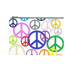 Peace Sign Collage Png Cosmetic Bag (large)
