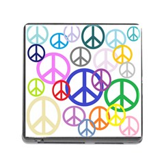 Peace Sign Collage Png Memory Card Reader With Storage (square)