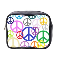 Peace Sign Collage Png Mini Travel Toiletry Bag (Two Sides)