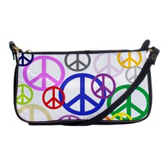 Peace Sign Collage Png Evening Bag