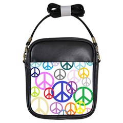 Peace Sign Collage Png Girl s Sling Bag