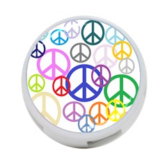 Peace Sign Collage Png 4-Port USB Hub (One Side)