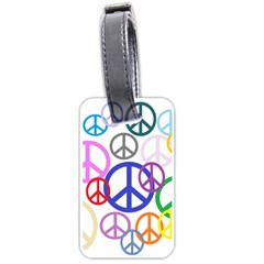 Peace Sign Collage Png Luggage Tag (Two Sides)
