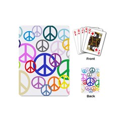 Peace Sign Collage Png Playing Cards (Mini)