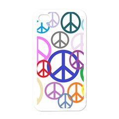 Peace Sign Collage Png Apple Iphone 4 Case (white)