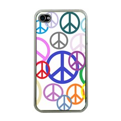 Peace Sign Collage Png Apple iPhone 4 Case (Clear)