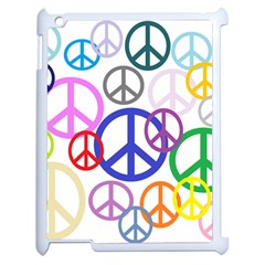 Peace Sign Collage Png Apple iPad 2 Case (White)