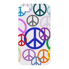 Peace Sign Collage Png Apple iPhone 4/4S Premium Hardshell Case