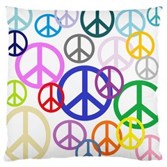 Peace Sign Collage Png Large Cushion Case (Two Sided)