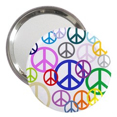 Peace Sign Collage Png 3  Handbag Mirror