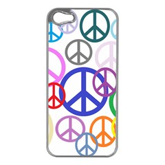 Peace Sign Collage Png Apple Iphone 5 Case (silver)