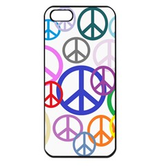 Peace Sign Collage Png Apple iPhone 5 Seamless Case (Black)