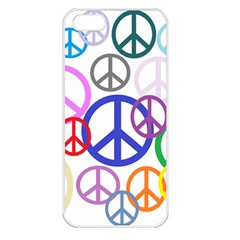 Peace Sign Collage Png Apple Iphone 5 Seamless Case (white)