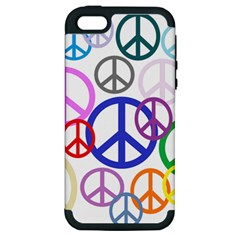 Peace Sign Collage Png Apple Iphone 5 Hardshell Case (pc+silicone)