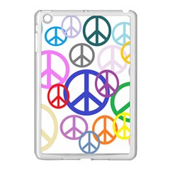Peace Sign Collage Png Apple iPad Mini Case (White)