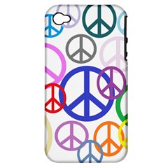 Peace Sign Collage Png Apple iPhone 4/4S Hardshell Case (PC+Silicone)
