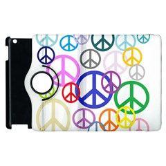 Peace Sign Collage Png Apple iPad 3/4 Flip 360 Case
