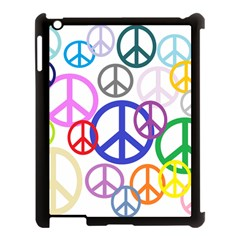 Peace Sign Collage Png Apple iPad 3/4 Case (Black)