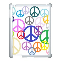 Peace Sign Collage Png Apple iPad 3/4 Case (White)