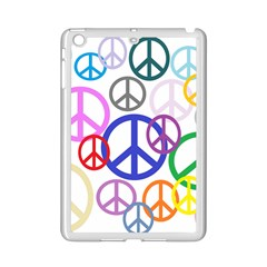 Peace Sign Collage Png Apple Ipad Mini 2 Case (white)