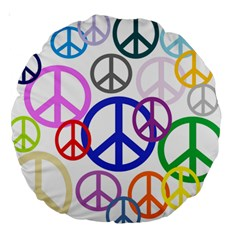 Peace Sign Collage Png 18  Premium Round Cushion