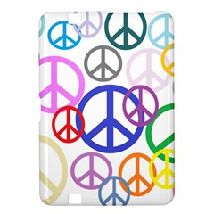Peace Sign Collage Png Kindle Fire HD 8.9  Hardshell Case