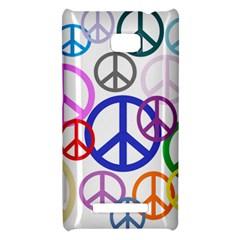 Peace Sign Collage Png HTC 8X Hardshell Case