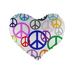 Peace Sign Collage Png 16  Premium Heart Shape Cushion