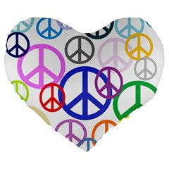 Peace Sign Collage Png 19  Premium Heart Shape Cushion