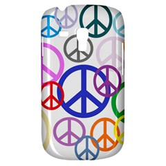 Peace Sign Collage Png Samsung Galaxy S3 MINI I8190 Hardshell Case