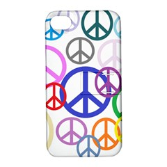 Peace Sign Collage Png Apple iPhone 4/4S Hardshell Case with Stand