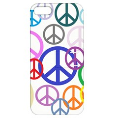 Peace Sign Collage Png Apple iPhone 5 Hardshell Case with Stand