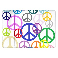Peace Sign Collage Png Samsung Galaxy Tab 10.1  P7500 Flip Case