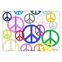 Peace Sign Collage Png Samsung Galaxy Tab 8.9  P7300 Flip Case