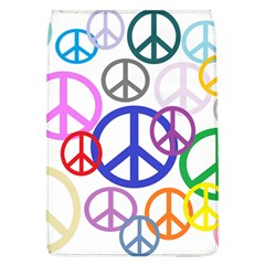 Peace Sign Collage Png Removable Flap Cover (Large)