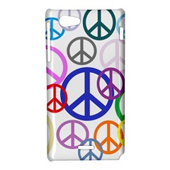 Peace Sign Collage Png Sony Xperia J Hardshell Case