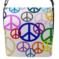Peace Sign Collage Png Flap Closure Messenger Bag (Small)