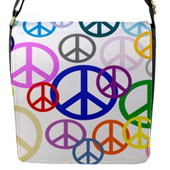 Peace Sign Collage Png Removable Flap Cover (small)