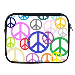 Peace Sign Collage Png Apple iPad Zippered Sleeve