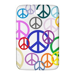 Peace Sign Collage Png Samsung Galaxy Note 8 0 N5100 Hardshell Case