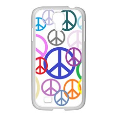 Peace Sign Collage Png Samsung Galaxy S4 I9500/ I9505 Case (white)
