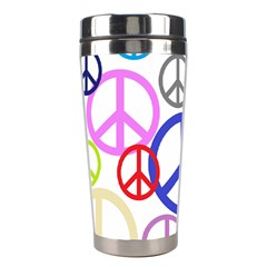 Peace Sign Collage Png Stainless Steel Travel Tumbler